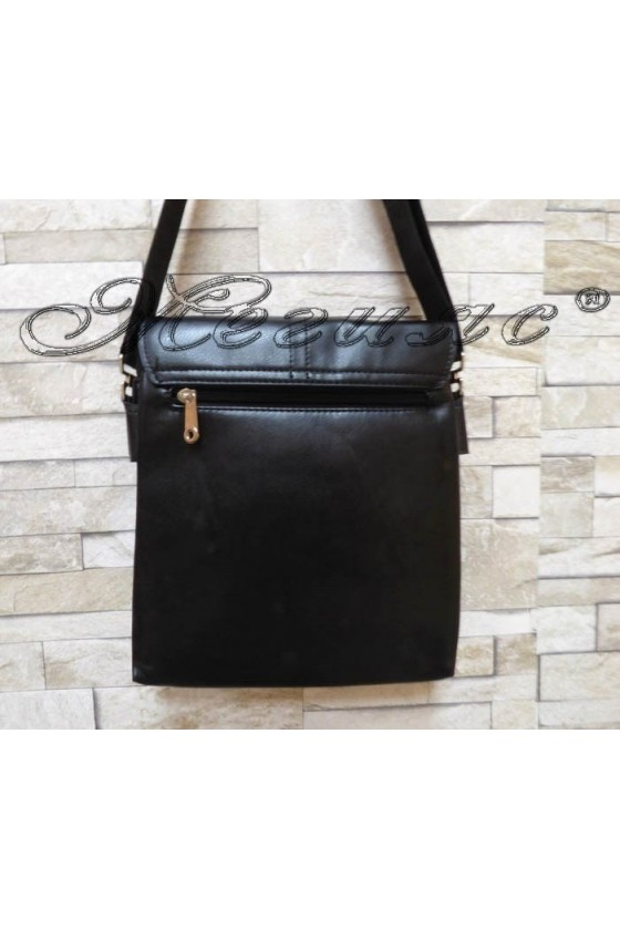 Мъжка чанта 8004-3 черна от еко кожа