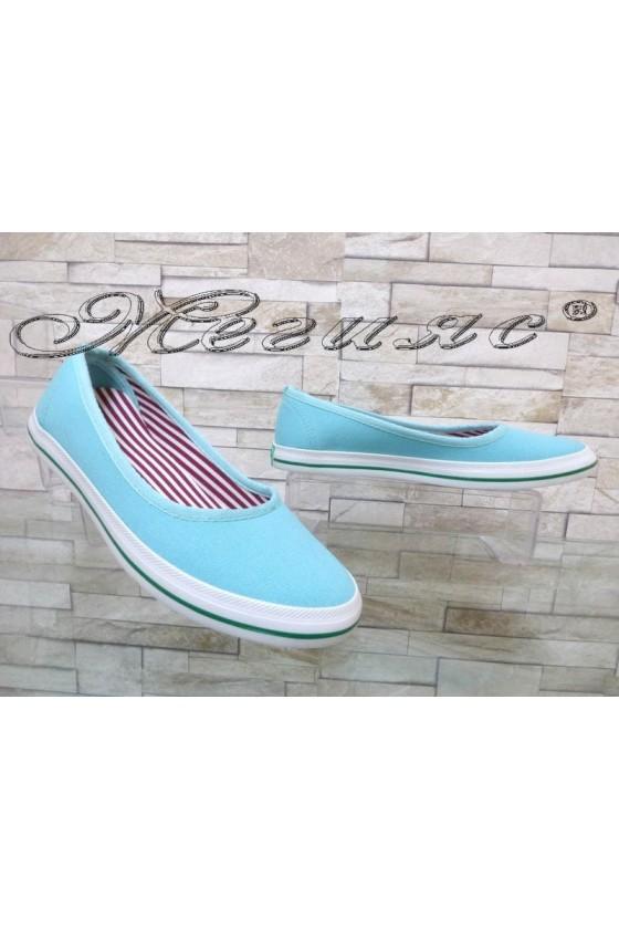 Дамски спортни обувки 200 цвят мента от текстил