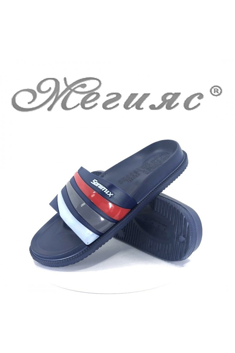 Мъжки джапанки 0051 синьо+червено+бяло