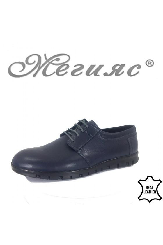 Мъжки обувки Фантазия 433-011 сини естествена кожа