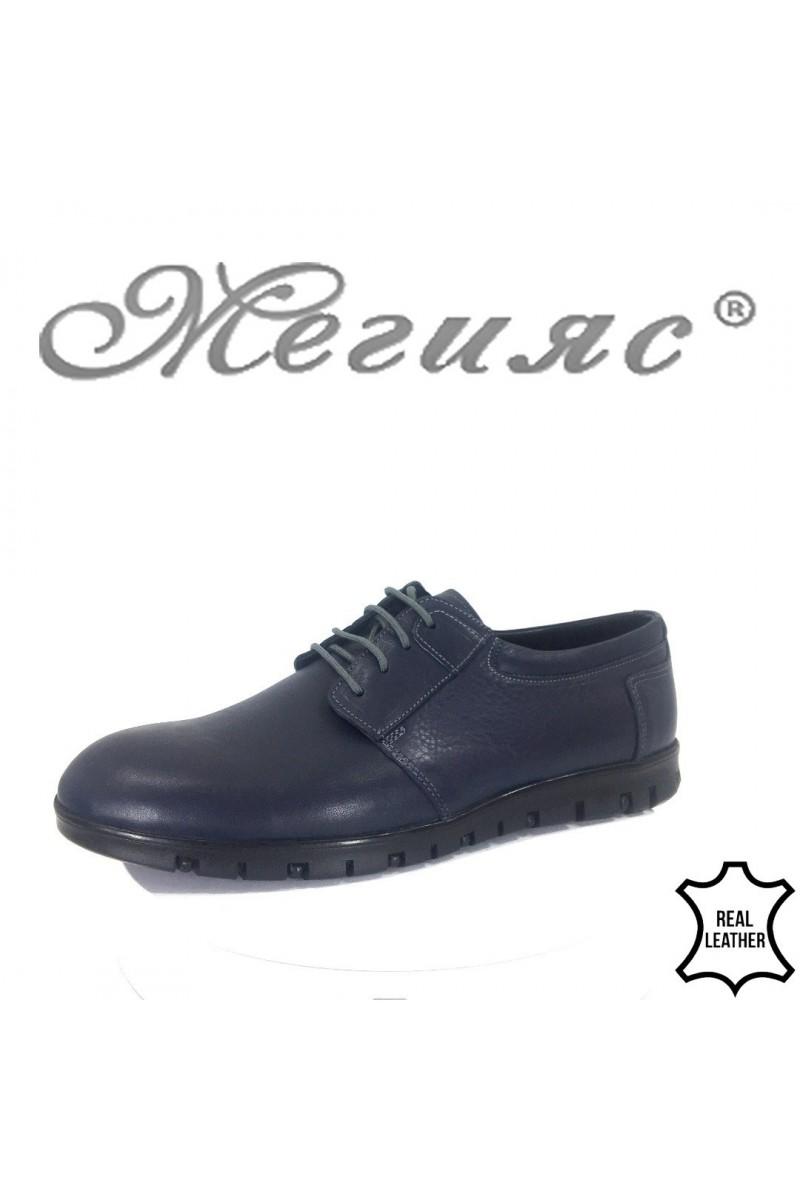 Men shoes FANTASIA 433-011 blue leather