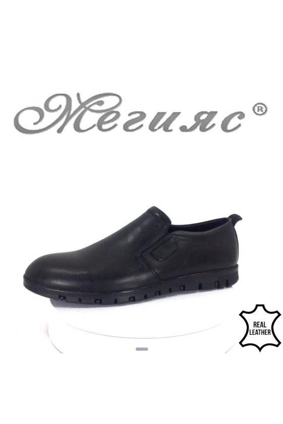 Мъжки обувки Фантазия 432-014 черни естествена кожа