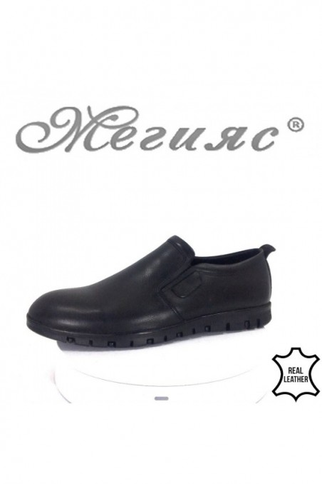 Men shoes FANTASIA 433-014 black leather