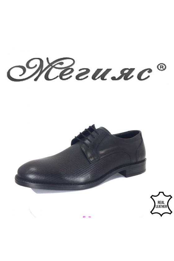 Men's elegant shoes 19000-278 black leather