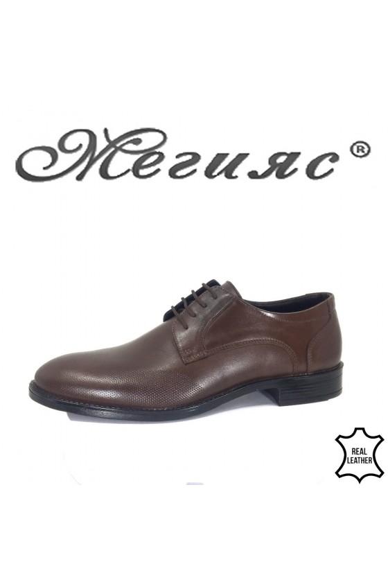Мъжки обувки Фантазия 19000-57 кафяви от естествена кожа елегантни