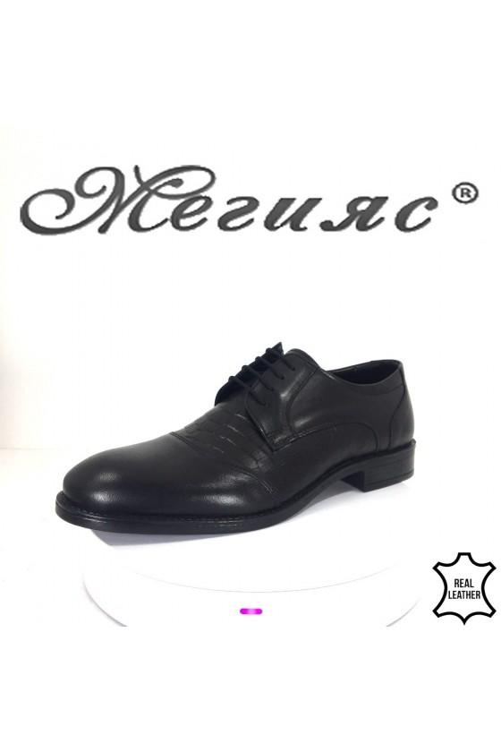 Мъжки обувки Фантазия 19003-332 черни от естествена кожа елегантни
