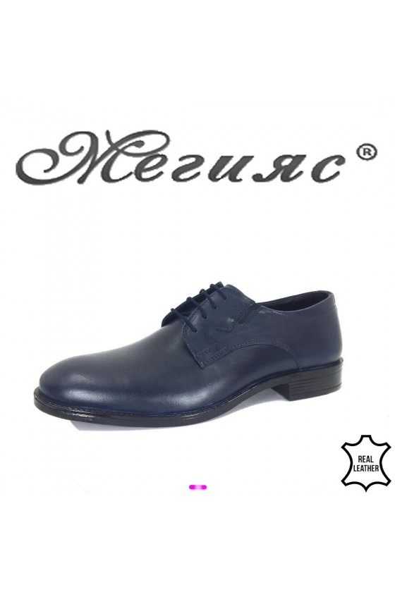 360     Men's elegant shoes 19003-332 blue leather  Men's elegant shoes 19004 blue leathe