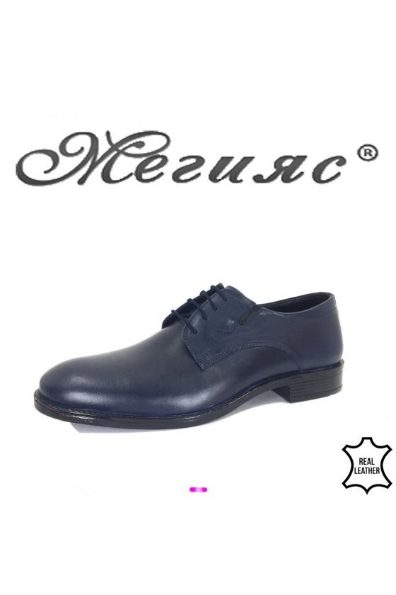 Мъжки обувки Фантазиия 19004 сини от естествена кожа елегантн