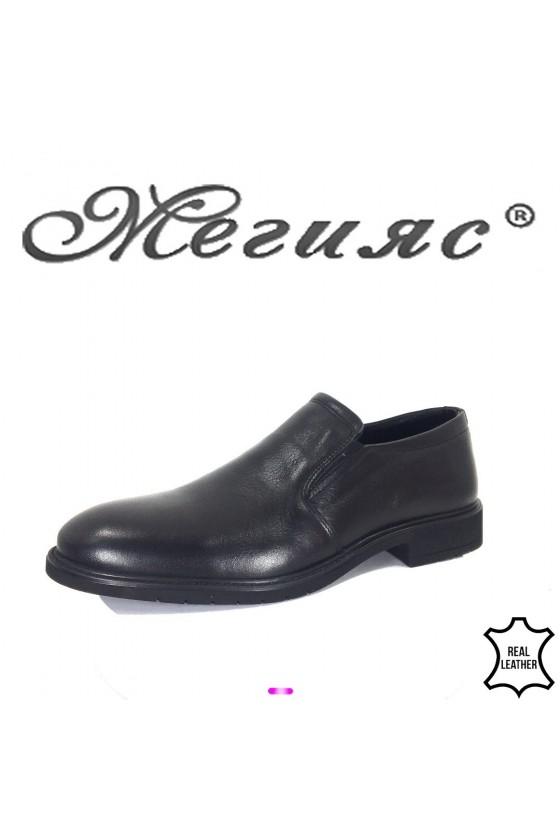 Men's elegant shoes 19204 black leather