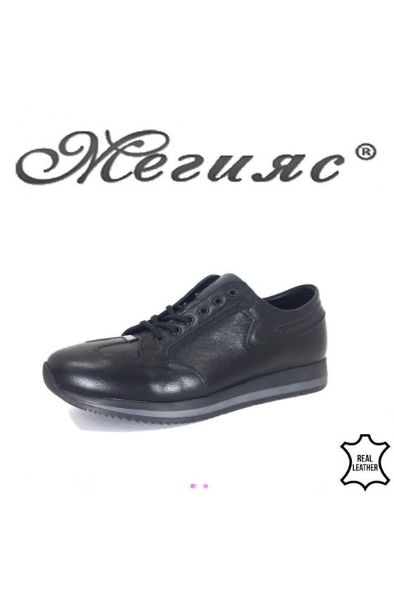 Men's shoes 19501 black leather