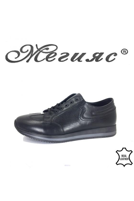 Мъжки обувки черни от естествена кожа Фантазия 19501