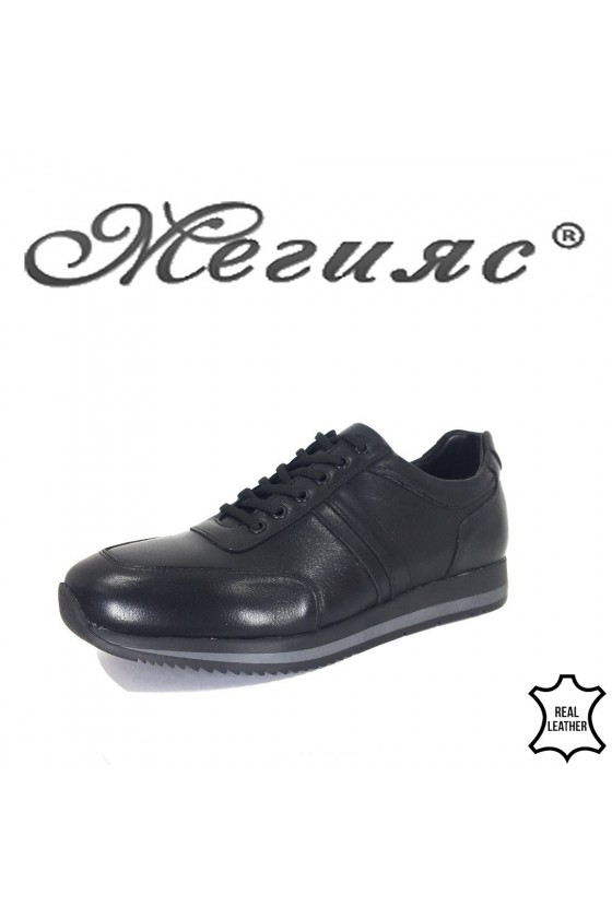 Men's shoes 19502 black leather