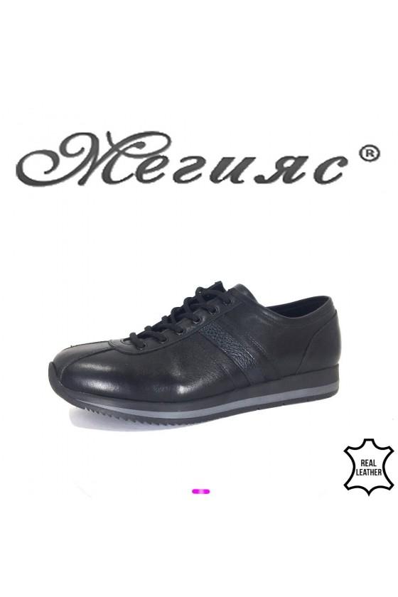 Мъжки обувки Фантазия 19503 черни от естествена кожа