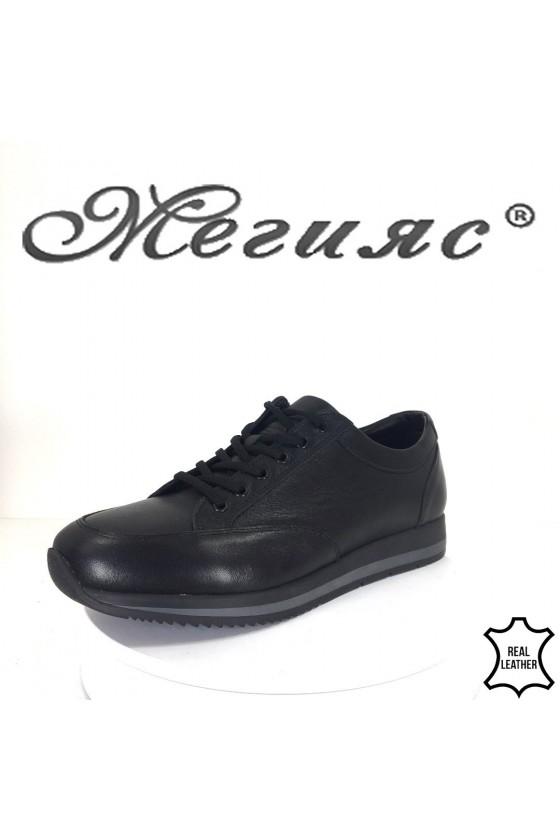 Мъжки обувки Фантазия 19505 черни от естествена кожа