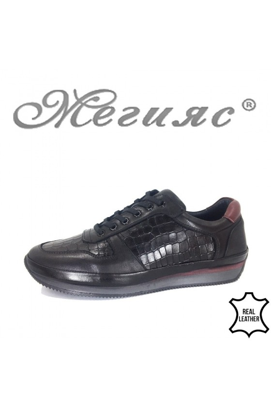 Men's shoes XXL 1798-377 black leather