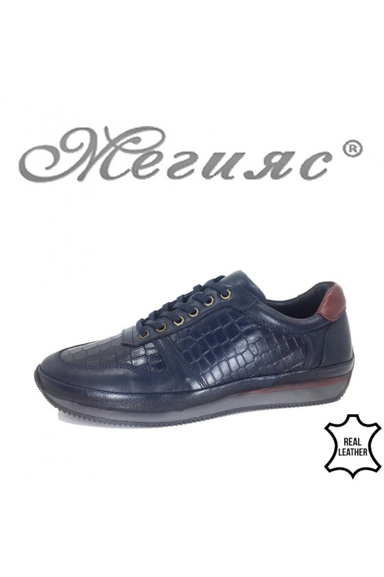 Men's shoes XXL 1798-377 blue leather