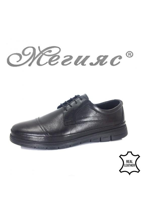 Мъжки обувки Фантазия 19300 черни от естествена кожа