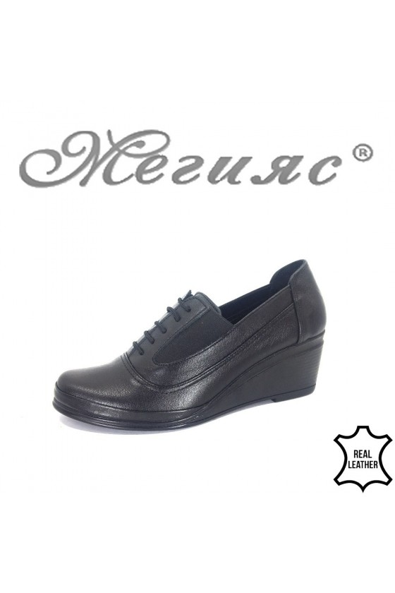 Women shoes XXL 264-1 black leather