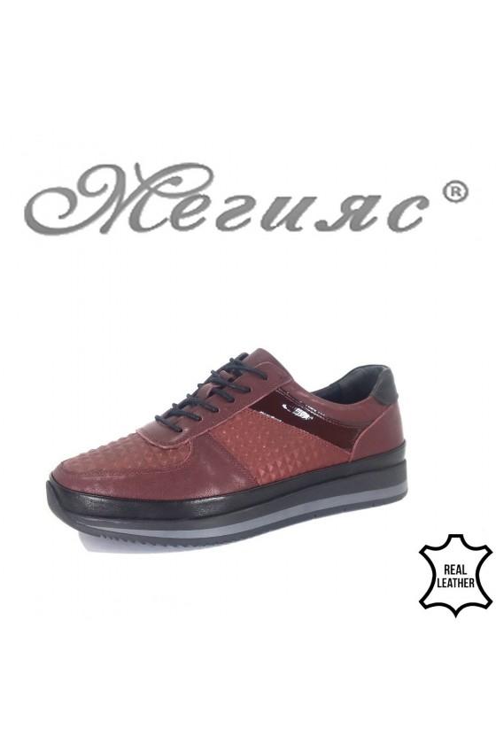 Мъжки обувки Фантазия 230-83133380 бордо от естествена кожа