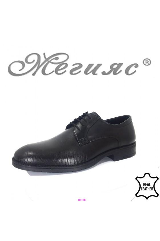 Мъжки обувки Фантазия 19102-57 черни от естествена кожа елегантни