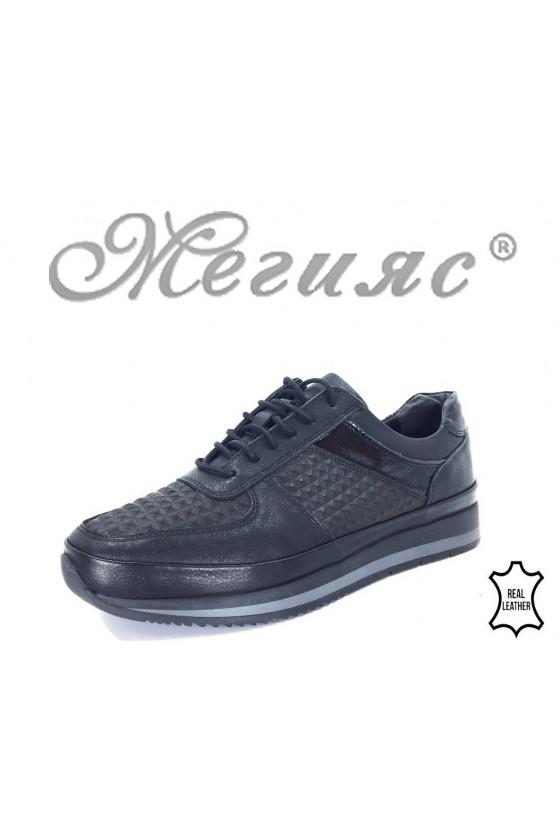 230-8010 Мъжки обувки Фантазия черни от естествена кожа 231-8010 Мъжки обувки Фантазия черни от естествена кожа