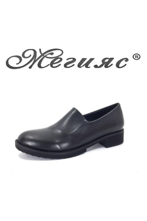 90 Дамски обувки черни от еко кожа