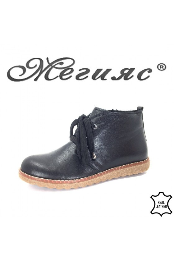 201-933 Women boots black leather