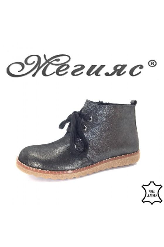 201-933 Women boots grafit leather