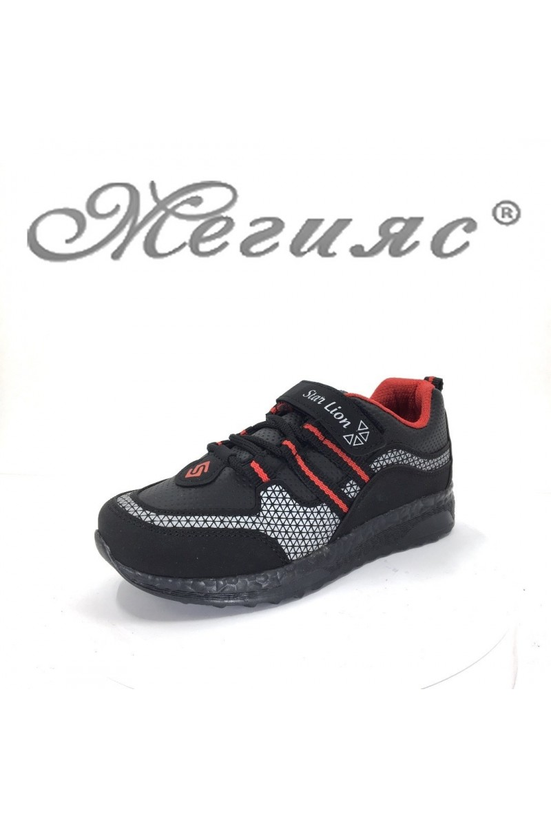 185 Детски маратонки червено и черно