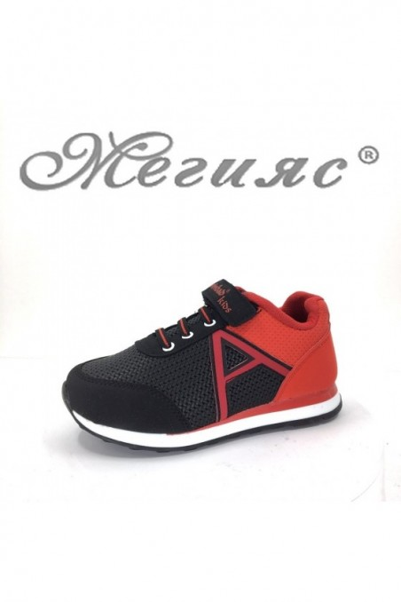 629 Children's sport shoes red-black pu