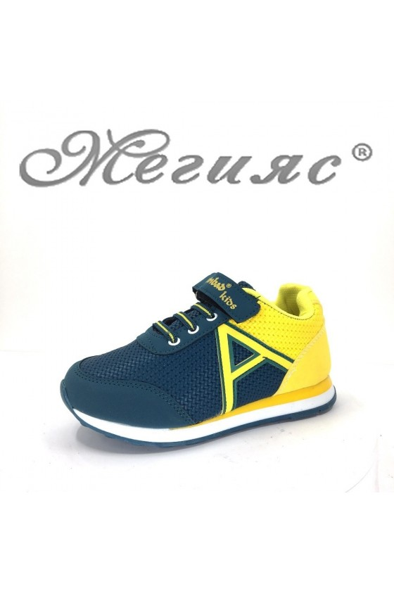 629 Children's sport shoes green-yellow