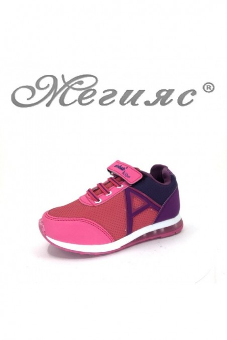 629 Children's sport shoes pink pu
