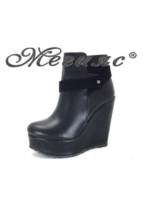 505 Women platform boots black pu