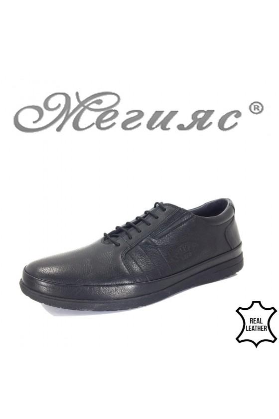 848-14 Мъжки обувки черни от естествена кожа