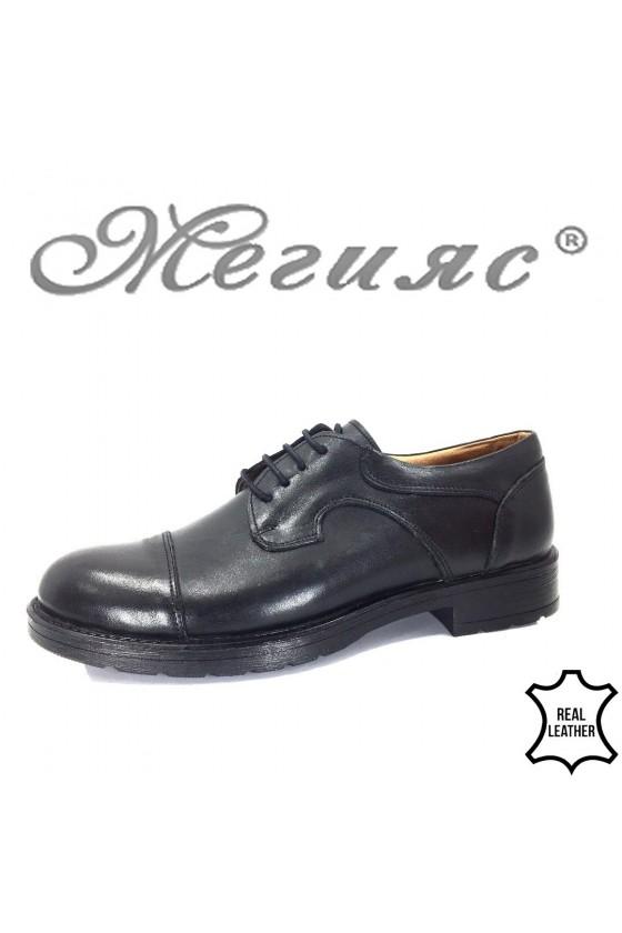 762 Мъжки обувки черни от естествена кожа ежедневни