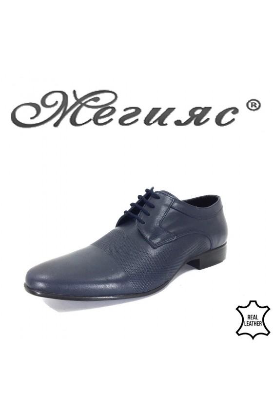 16039 Мъжки обувки Фантазия сини от естествена кожа