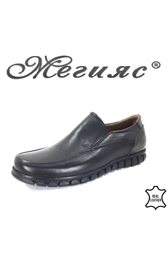 980 Men's shoes black leather