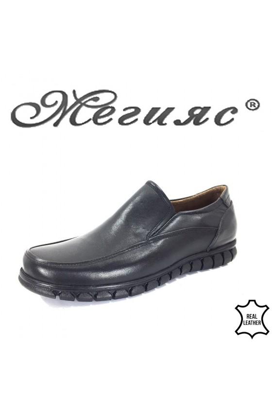 980 Men's shoes black leather