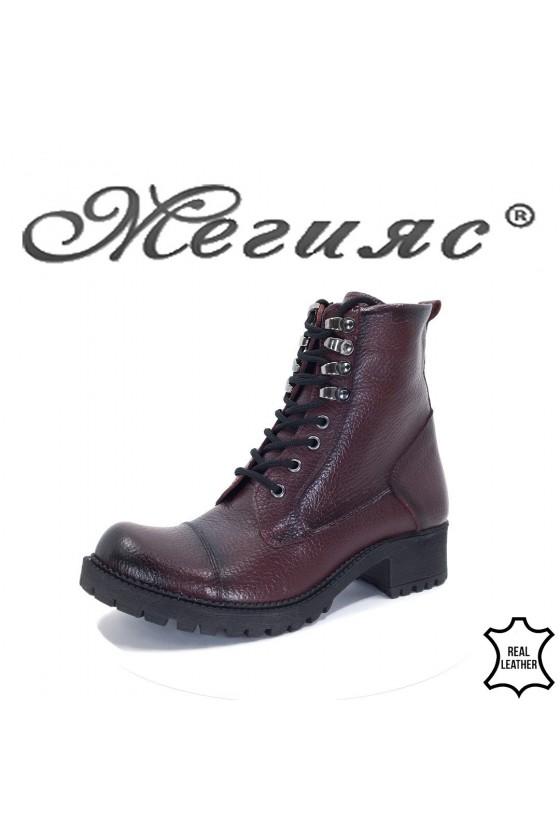 101 Lady boots bordo leather