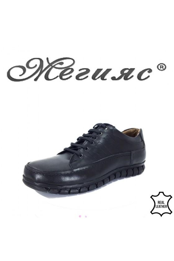 805 Мъжки обувки черни от естествена кожа