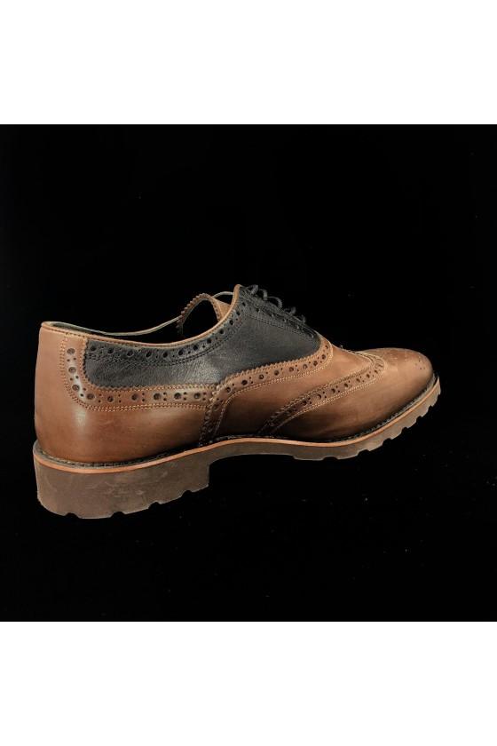 """383 10 Мъжки обувки """"Оксфорд"""" кафяви от естествена кожа"""
