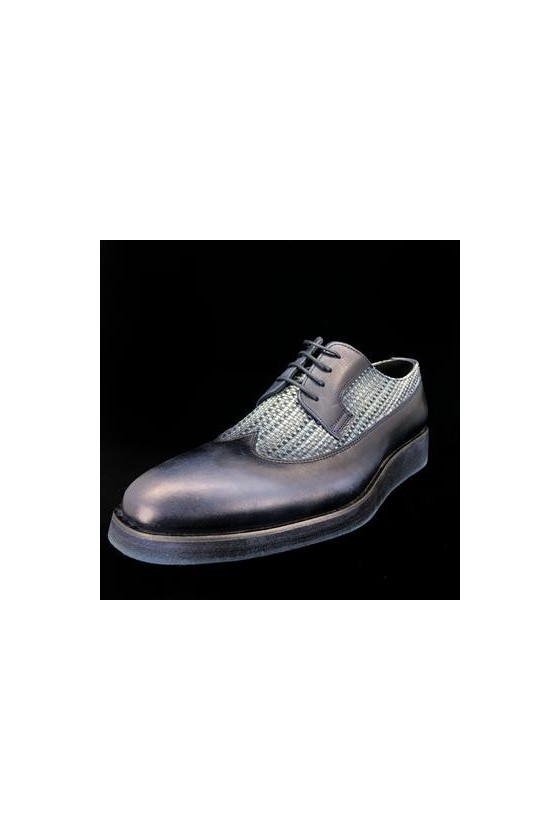 830 27  Men's shoes dark blue leather