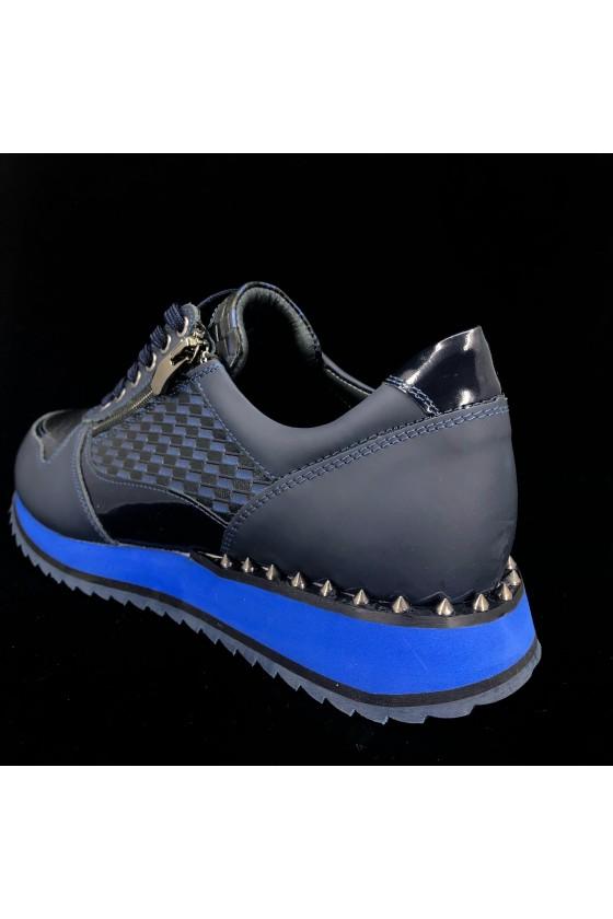830 27 Men's sport shoes blue leather