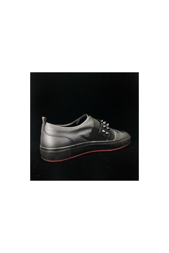 829-1 01Men's shoes black leather
