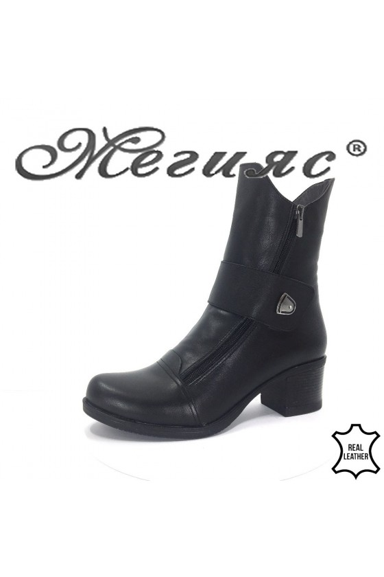 92-11 Lady boots black leather