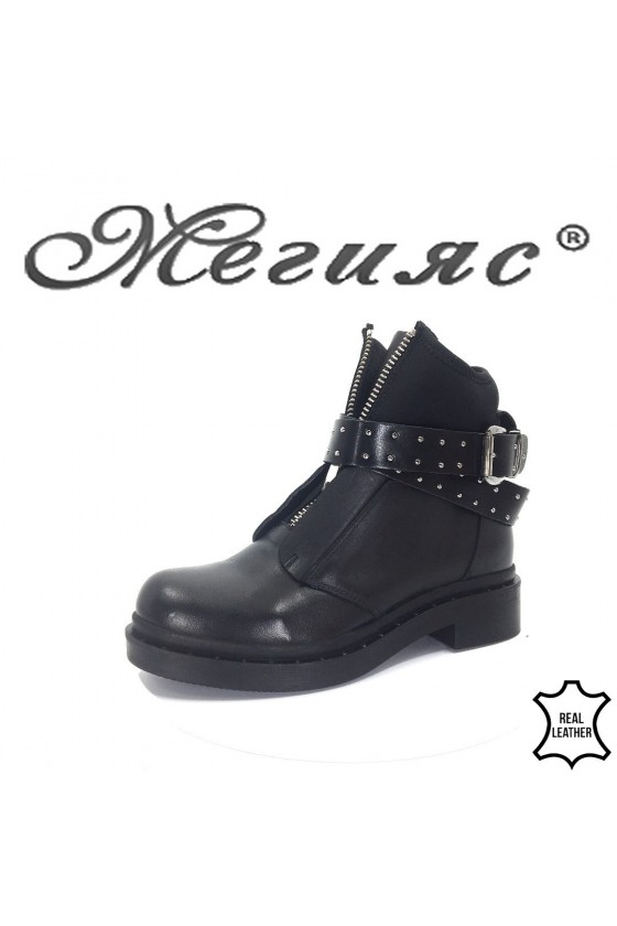 609-303 Lady boots black leather