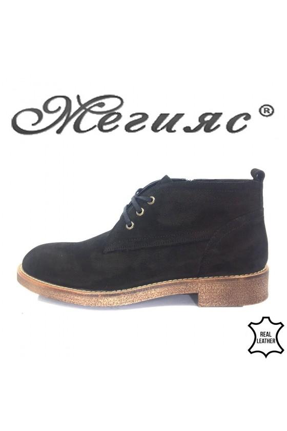 214 SHARP Men's boots  black leather