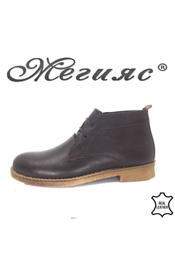 105  Men's boots brown leather