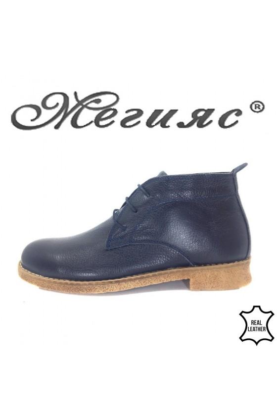 105 Men's boots blue leather