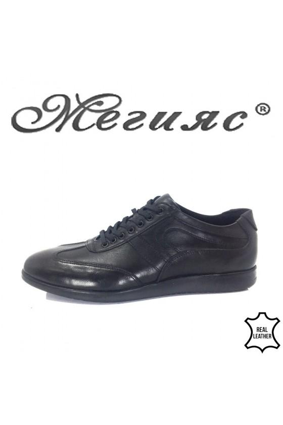 108 Фантазия Мъжки обувки черни от естествена кожа